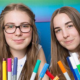 Das Test-Team: Judith und Eva