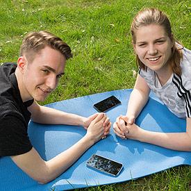 Das Test-Team aus Hamburg: Jasmin und Ole.