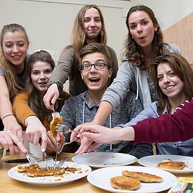 Test-Team Vegetarische Schnitzel