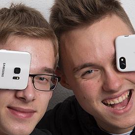 Das Team aus Marzling (Bayern): Timon und Oskar.